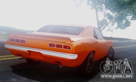 Chevy Camaro 69 para la visión correcta GTA San Andreas