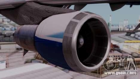 Boeing 747-400 Dreamliner Livery para la visión correcta GTA San Andreas