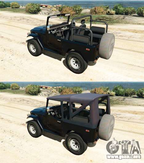 GTA 5 Toyota Land Cruiser (J40) 1978 [Beta 3b] delantero derecho vista lateral