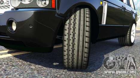GTA 5 Range Rover Supercharged vista lateral derecha