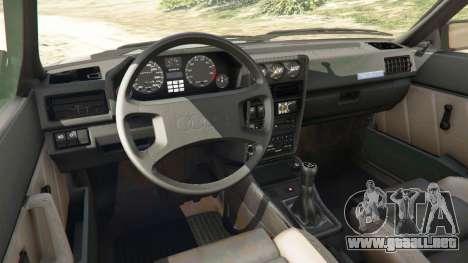 GTA 5 Audi Sport quattro v1.1 vista lateral derecha