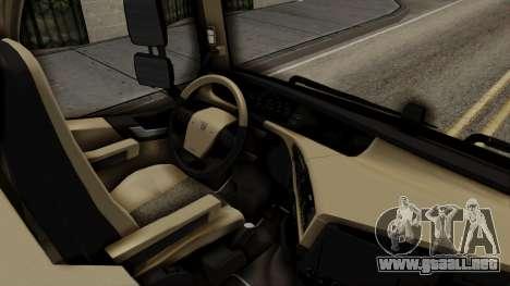 Volvo FH Euro 6 10x4 Low Cab para la visión correcta GTA San Andreas