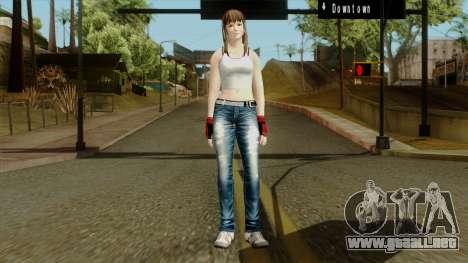 Dead Or Alive 5 Hitomi 1st Cos para GTA San Andreas segunda pantalla