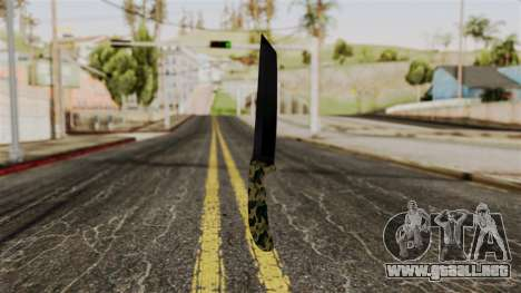 Nuevo camuflaje cuchillo para GTA San Andreas segunda pantalla