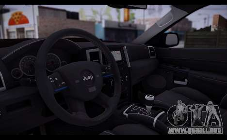 Jeep Grand Cherokee SRT8 2008 para GTA San Andreas vista hacia atrás