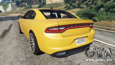 GTA 5 Dodge Charger RT 2015 v1.3 vista lateral izquierda trasera