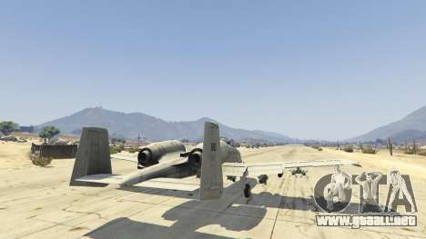 GTA 5 A-10A Thunderbolt II 1.1 sexta captura de pantalla