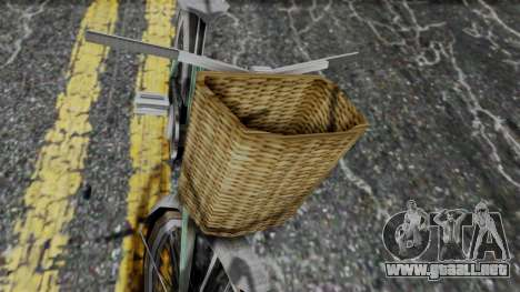 Olad Bike from Bully para GTA San Andreas vista posterior izquierda