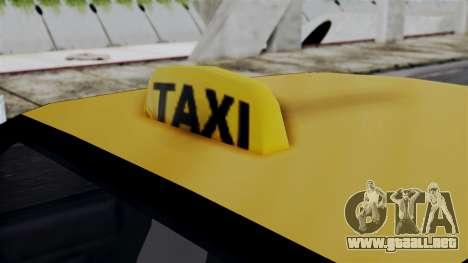 Taxi Casual v1.0 para GTA San Andreas vista posterior izquierda