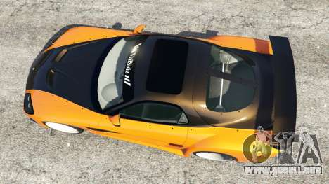 GTA 5 Mazda RX-7 Veilside Fortune v0.1 vista trasera