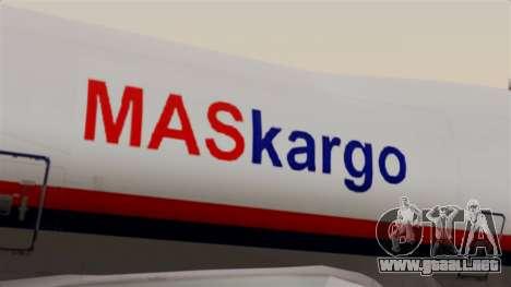 Boeing 747 MasKargo para GTA San Andreas vista hacia atrás