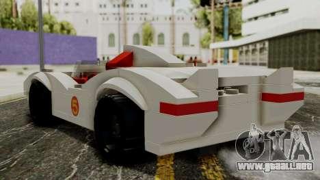 Lego Mach 5 para GTA San Andreas left