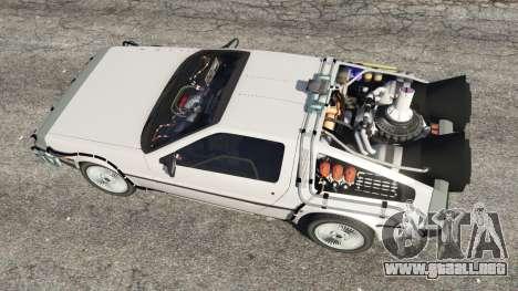 GTA 5 DeLorean DMC-12 Back To The Future v0.3 vista trasera