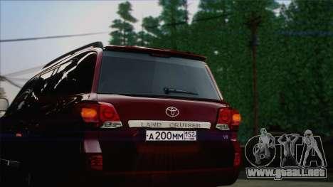 Toyota Land Cruiser 200 para visión interna GTA San Andreas