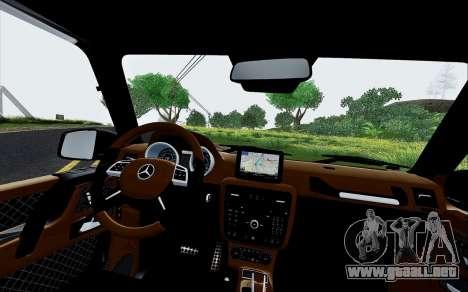 Mercedes Benz G65 Black Star Edition para vista lateral GTA San Andreas