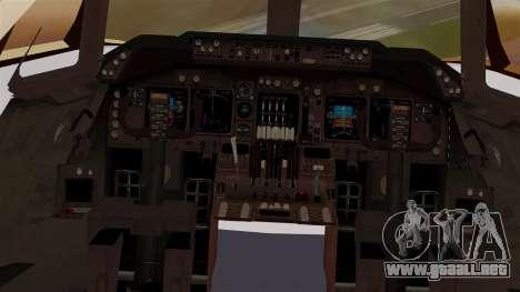 Boeing 747 MasKargo para visión interna GTA San Andreas