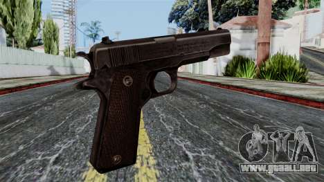 Colt M1911 from Battlefield 1942 para GTA San Andreas segunda pantalla