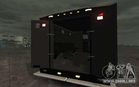 International 4000-Series SWAT Van para GTA 4 visión correcta