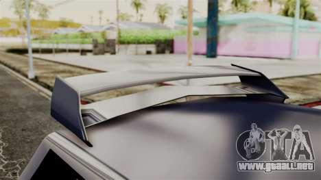 New Regina Extreme para GTA San Andreas vista hacia atrás
