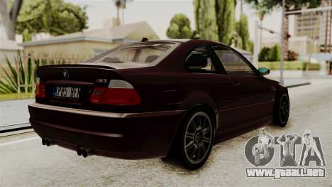 BMW M3 E46 2005 Stock para GTA San Andreas left