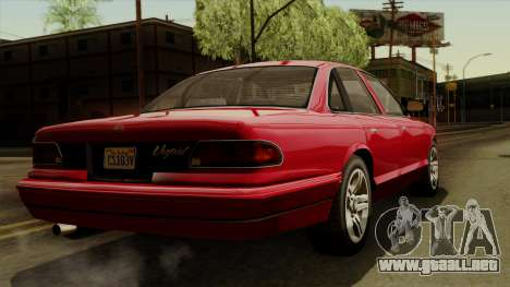 GTA 5 Vapid Stanier I IVF para GTA San Andreas left