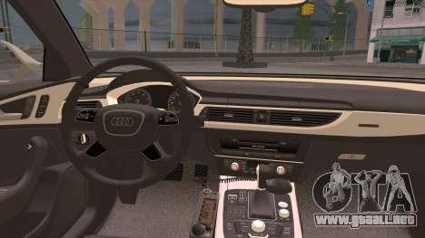 Audi A6 DPS para visión interna GTA San Andreas