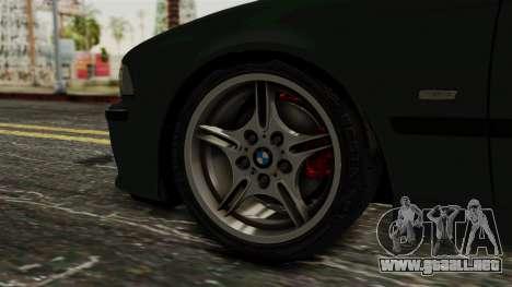 BMW 530D E39 1999 Mtech para GTA San Andreas vista posterior izquierda