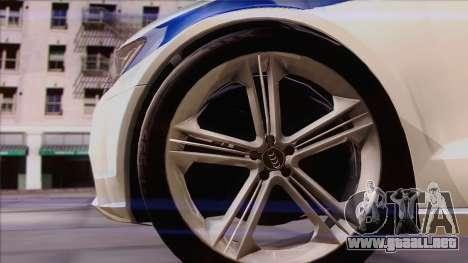Audi A6 DPS para GTA San Andreas vista hacia atrás