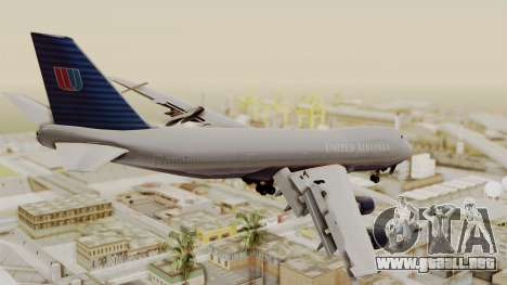 Boeing 747 United Airlines para GTA San Andreas left