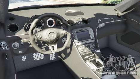 GTA 5 Mercedes-Benz SL 65 AMG Black Series vista lateral trasera derecha
