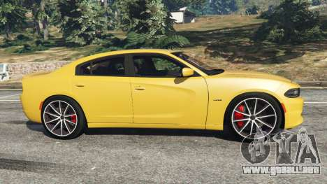 GTA 5 Dodge Charger RT 2015 v1.3 vista lateral izquierda