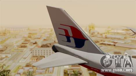 Boeing 747 MasKargo para GTA San Andreas vista posterior izquierda