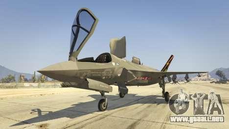 GTA 5 F-35B Lightning II (VTOL) séptima captura de pantalla