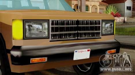 Landstalker from Vice City IVF para GTA San Andreas vista hacia atrás