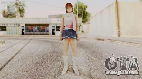 DOA 5 Kasumi Scarfed Frock para GTA San Andreas segunda pantalla