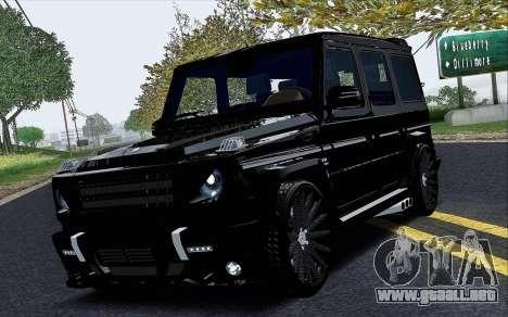 Mercedes Benz G65 Black Star Edition para GTA San Andreas