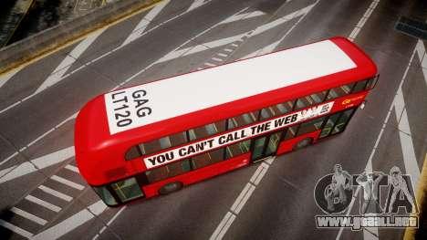 Wrightbus New Routemaster Go Ahead London para GTA 4 visión correcta