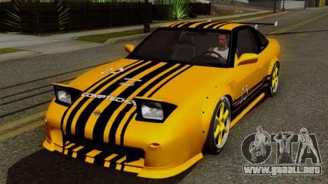 Nissan 180SX Street Golden Rims para la vista superior GTA San Andreas