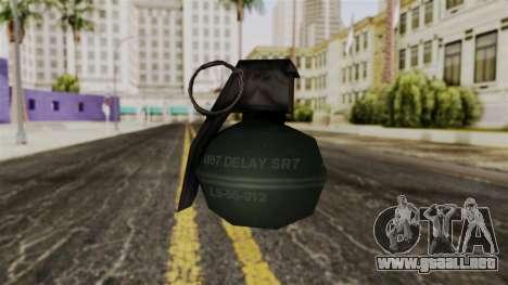 Frag Grenade from Delta Force para GTA San Andreas segunda pantalla