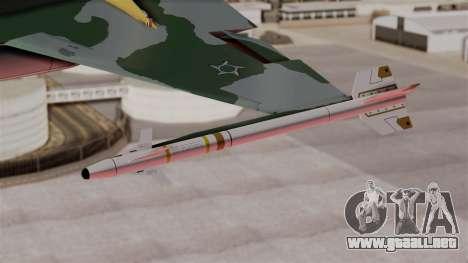Northrop F-5E Tiger II Texture FAB para la visión correcta GTA San Andreas
