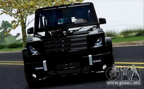 Mercedes Benz G65 Black Star Edition para visión interna GTA San Andreas