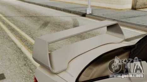 Subaru Impreza WRX STI HQ para GTA San Andreas vista hacia atrás