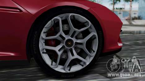 Lamborghini Asterion 2015 Concept para GTA San Andreas vista posterior izquierda