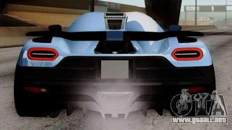 Koenigsegg Agera R 2014 Carbon Wheels para vista inferior GTA San Andreas