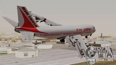 Boeing 747-200 Air India VT-ECG para GTA San Andreas left
