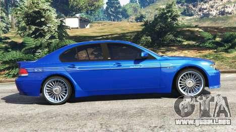 GTA 5 BMW B7 (E65) Alpina vista lateral izquierda