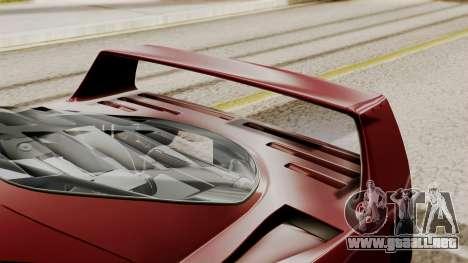 Ferrari F40 1987 without Up Lights IVF para GTA San Andreas vista hacia atrás