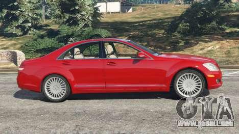 GTA 5 Mercedes-Benz S550 W221 v0.4.1 [Alpha] vista lateral izquierda