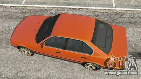 GTA 5 BMW 535i (E34) v2.0 vista trasera