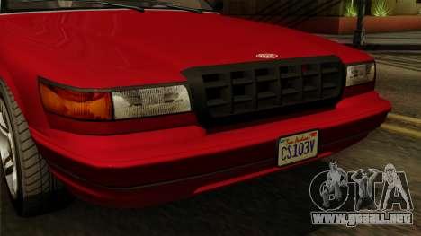 GTA 5 Vapid Stanier I IVF para la visión correcta GTA San Andreas